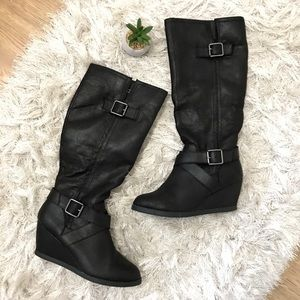 Black Slouchy Fall Boots 8 Mossimo Supply Co.